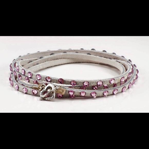 Glamwrapz Jewelry - Swarovski crystal multi wrap bracelet in pink